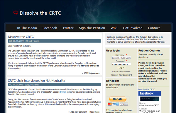 dissolve the crtc website