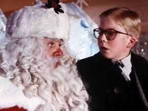 Ralphie tells Santa Claus his wish