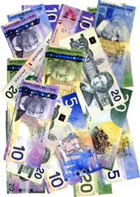 canadian paper money - photo by laurelrusswurm