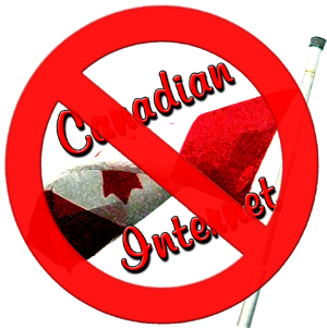 no Canadian internet symbol