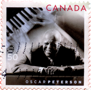 Canada Post Oscar Peterson cancelled Stamp