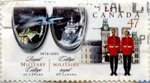 Canada Post canceled Royal Canadian Military College stamp