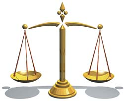 Scale of justice gold by Erasoft 24, a public domain image from Wikipedia