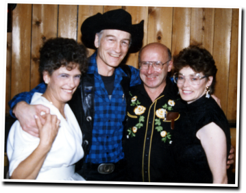 Shirley Russwurm, Stompin' Tom Connors, Lynn Russwurm, Lena Connors