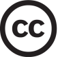 Creative Commons logo: cc inside a circle