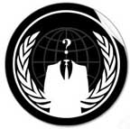 "A black & white remix of the UN Globe surrounded with a laurel wreath, an ""invisible man"" with a question mark where the head should be"